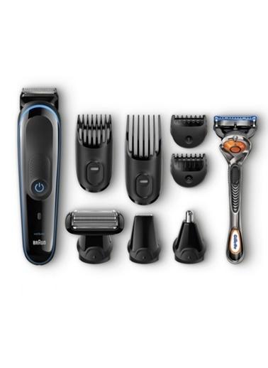Braun MGK3080 Çoklu Bakım Kiti Siyah/Mavi - Saç ve Sakal Şekillendirme Için Dokuzu Bir Arada Hassas Şekillendirici, 9 in 1 Renkli